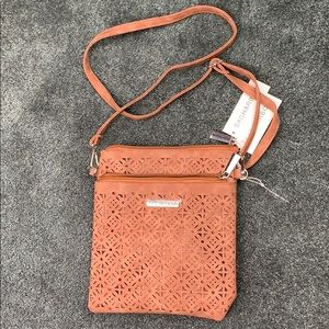 Sag Harbor Brown Suede Leather Satchel Bag Purse